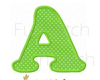 CB font applique letters machine embroidery designs
