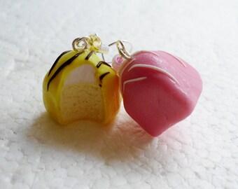 Fondant Fancy Earrings. Polymer Clay.