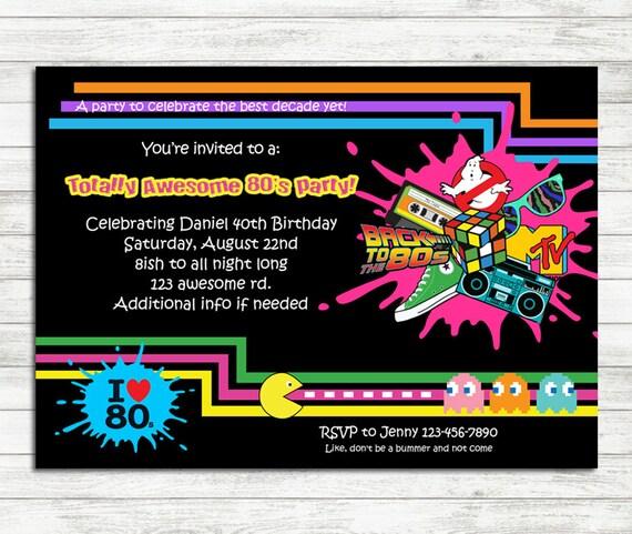 Einladung fur 80er party
