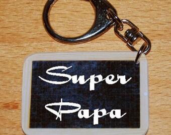 Keychain style slate to school SUPER dad