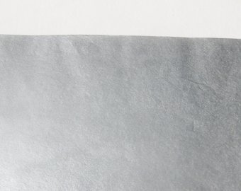 """10 Sheets of Double-Sided METALLIC SILVER Tissue Paper (20"""" x 30"""")"""