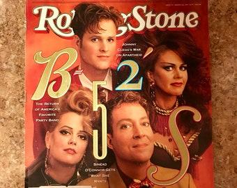 B-52's 1990 Vintage Rolling Stone Magazine Issue 574 Great Condition Music Memorabilia Fred Schneider Kate Pierson