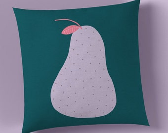 Pear Print Cushion - Nursery Cushion Cover - Throw Pillow - Nursery Decor - Soft Furnishings - Cushion Covers - Housewarming - Home Decor