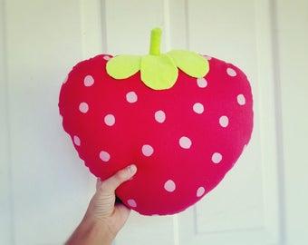 Cute Kawaii Strawberry Pillow Plushie Stuffed Toy Gift Kawaii Summer Decoration