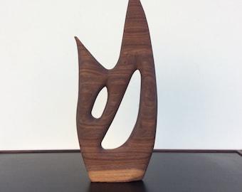Modernist Sculpture in Walnut
