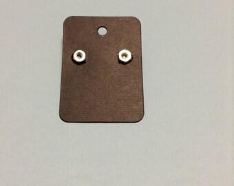 Small Hex Nut Earrings