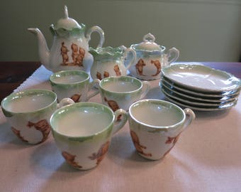 Rose O'Neill Wilson kewpie doll child's tea set