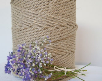 5mm x 160m Twisted Macrame Linen Cord / Macrame Cord / Linen Cord / Linen Rope / Crafts / Natural Cord