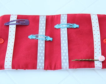 Barrettes holder / catcher small cherry hair clips