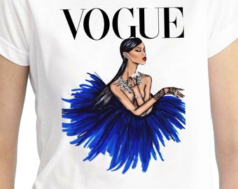 Rhianna Vogue Shirt/Rhianna Shirt/Rhianna Birthday Shirt/Rhianna Outfit/Rhianna Stickers/Rhianna Tutu Set/Rhianna Dress/Rhianna/Vogue Shirt