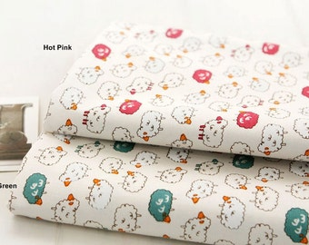 Oxford Cotton Fabric Sheep in 3 Colors By The Yard