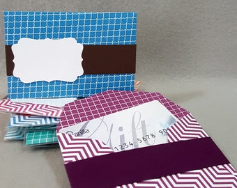 Package of 2 Gift Card Holders