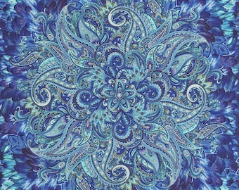 """Belize by Chong-A Hwang for Timeless Treasures.  This is a fabric panel 23.5"""" by 44."""""""