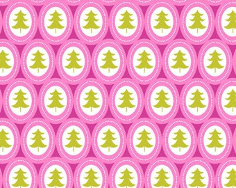Jungle Bells Pink Treelicious from Blend Fabric