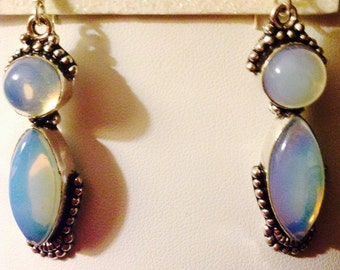 Sterling Silver Opalite Drop Earrings
