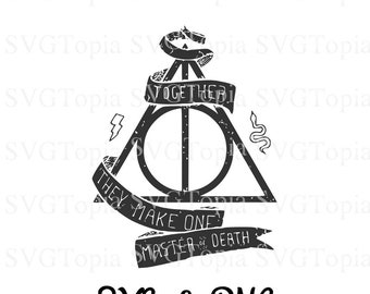 Deathly Hallows Harry Potter SVG and PNG Clip Art for Die Cut like Cricut and Silhouette Cuttable File