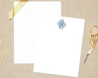 Blair Personalized Stationery Set - Flat Note Cards