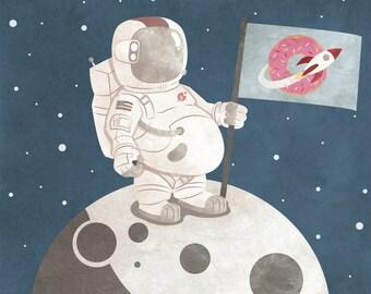 FATstronaut - Digital Illustration Print