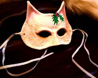Holiday Leather Cat Mask