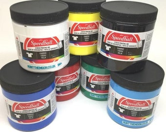 Speedball Water Based Fabric Textile Paper Screen Printing Ink