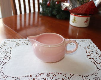 Vintage Taylor Smith T, TS&T Lu-Ray Luray Pastels Pink Creamer