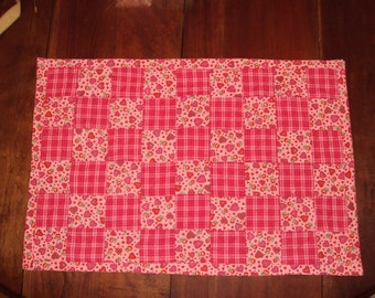 Pink Patchwork Valentine's Table Runner