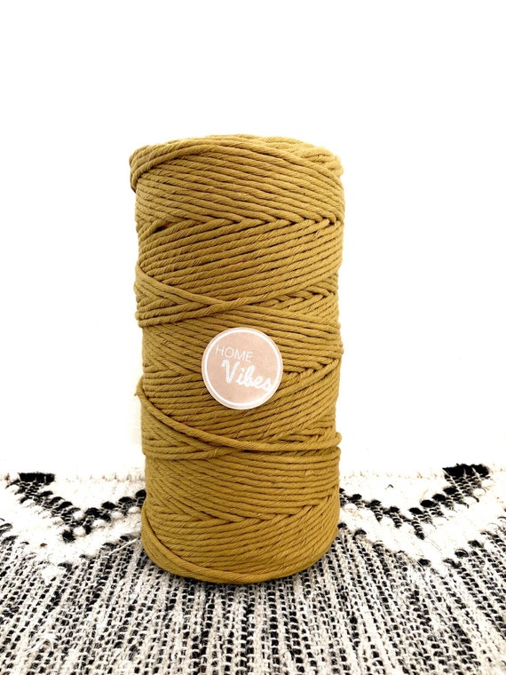 PREORDER MUSTARD Single Twist Cord 1kg