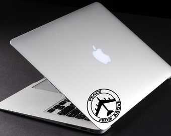 Peace Decal Peace From Above Macbook Vinyl Sticker Peace Sticker Macbook Decal