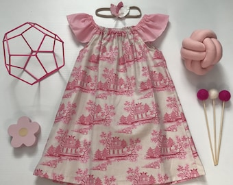 1- Flutter Sleeve Dress- Pink China