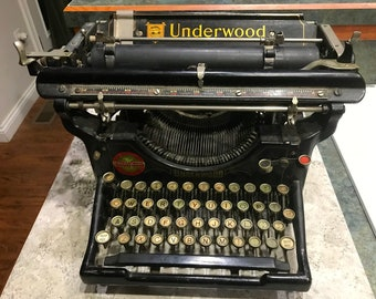 1910 No 5 Underwood Typewriter 298747 Serial No.