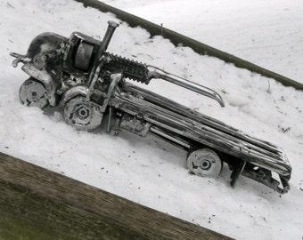 Truck Metal Sculpture Yard Art Garden Art Found Objects