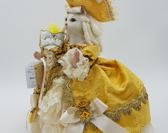 Porcelain Dolls Venetian Cat 17th Century Dress