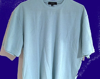 Mint small waffle knitted t-shirt  // Brand New One Off Sample // Reduced Sale Price