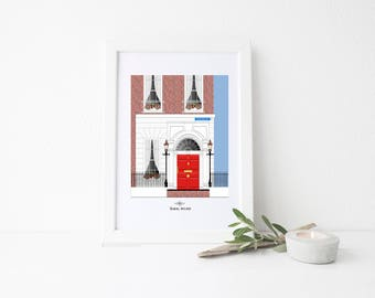 Ireland Travel Art Print - Georgian Building