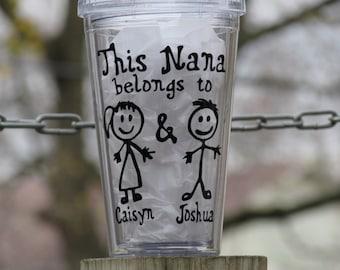 Personalized Grandma Cup, Personalized Grandpa cup, Nana cup, Mimi cup, Grams cup, Personalized Grandparents Tumbler, Personalized Tumbler