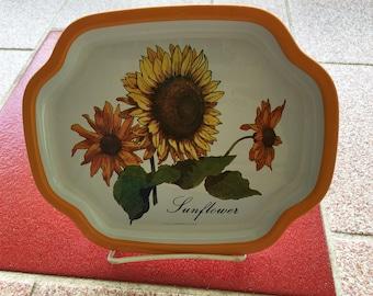 Vintage Sunflower Decorative Tray