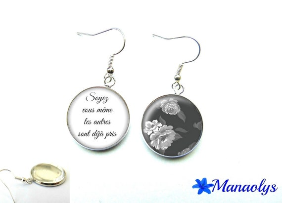 Quote 2437 glass cabochons earrings