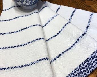 Guest Hand Towel, GOTS Certified Organic Yarn, Hand Woven Kitchen Towel, Tea Towel, Handwoven Dish Towel, Artisan Hand Woven, Hostess Gift