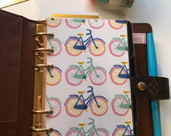 Bicycle Planner Insert, A5 or Personal