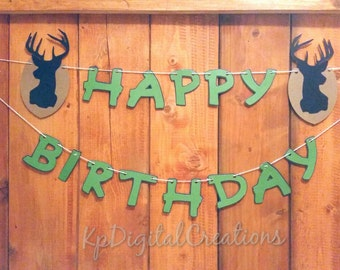 Hunting Birthday party, Deer birthday, Hunting birthday, Deer party, Hunting, Camo, deer head, sportsman, hunting retirement party