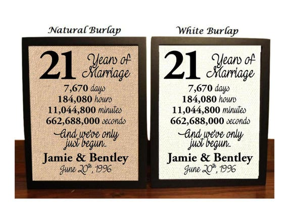wedding anniversary gifts for 21 years