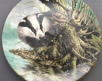 Wedgwood The Water's Edge I Spy Collectors Plate.Badger.