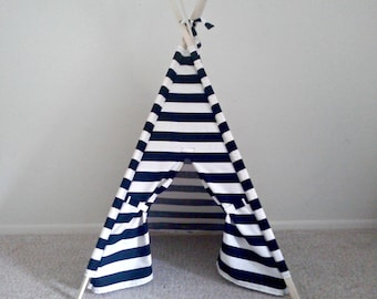PlayTeepee Black and White Play Tent- Kids Teepee  Stripe Tent  Play Tent Kids Tent the teepee guy