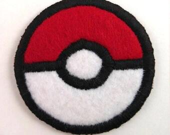Pokemon Pokeball Badge Pin Button Patch