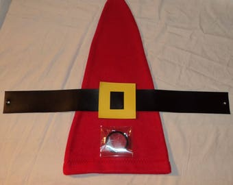Set Red or Blue Gnome Hat and Belt  for Garden Gnome Costume