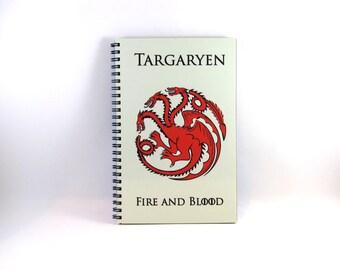 House Targaryen Journal/Notebook Game of Thrones
