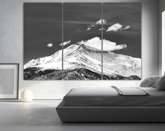 Mountain Canvas Art, 3 panel wall decor, Colorado Wall Art, Nature photography, Art Print for home and office wall decoration, Boulder Art