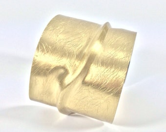 "Statement Gold Cuff Bracelet // Matte Gold Finished // Fits 7"" to 8"" Wrist // Ask About Wholesale"