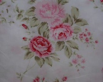 "Rachel Ashwell "" Wildflower Bouquet"" Fabric  Pink Roses  36""X30"""