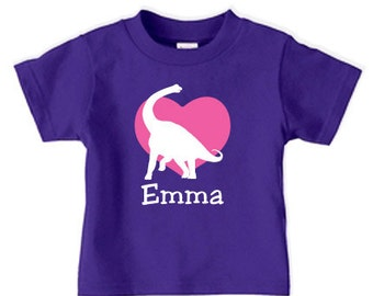 Girls Valentine Shirt, Valentine dinosaur shirt, Valentines day shirt for girls